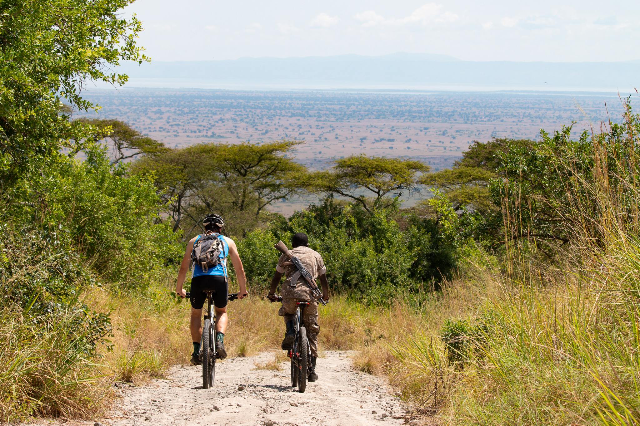 Showing how beautiful cycling in national parks in Uganda is